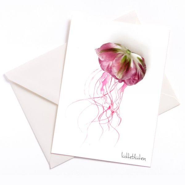 Lütteblüten Medusa Tulpe Grusskarten
