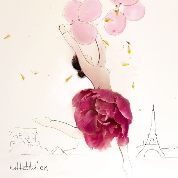 Rote Tulpe in Paris