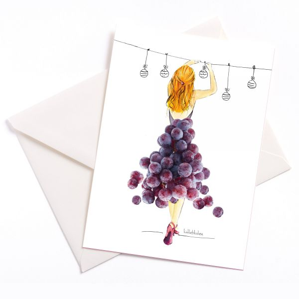Lütteblüten weihnachten Rotwein Weintrauben