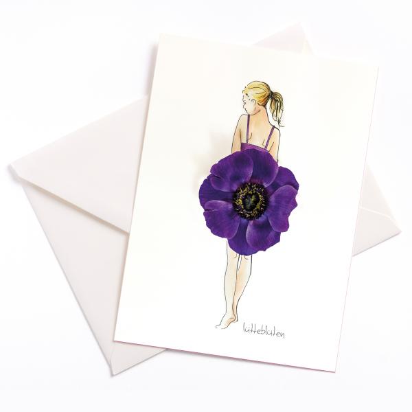 Anemone - Handgemacht - Anlasskarte