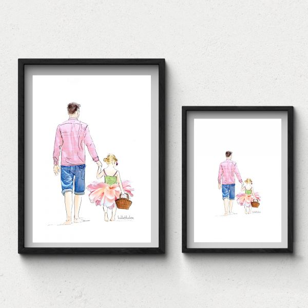 Lütteblüten Vatertag Gabriele Ampt Art Print