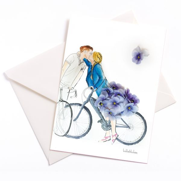 Lütteblütten Stiefmütterchen Fahrrad