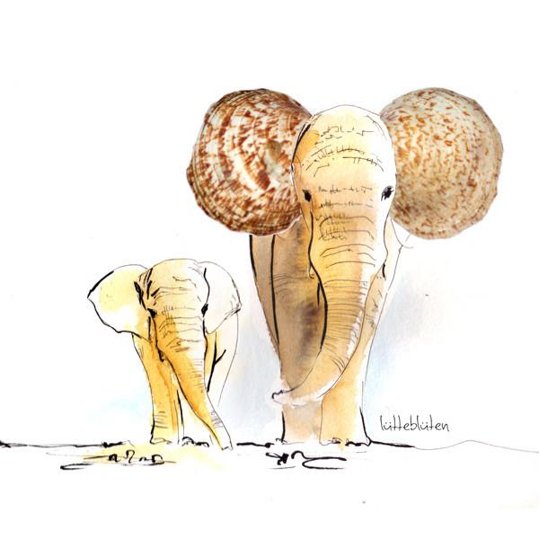 Muschel-Elefant