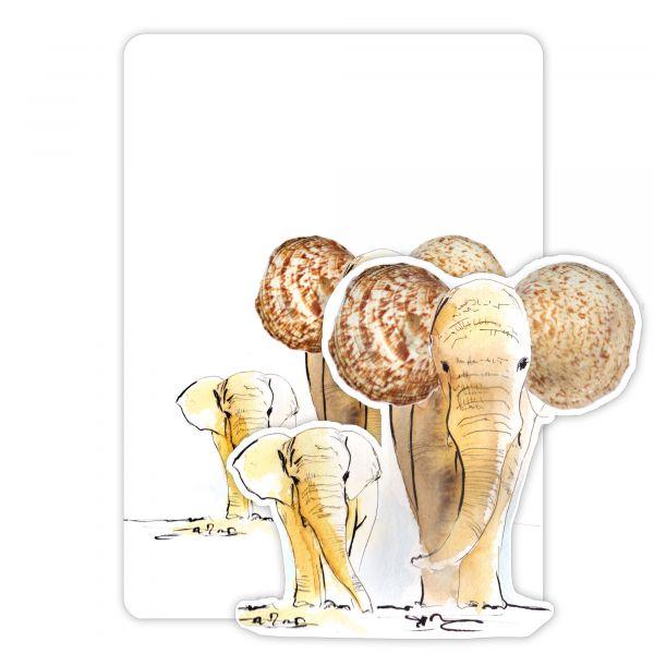 Lütteblüten Magnet & Karte Elefant