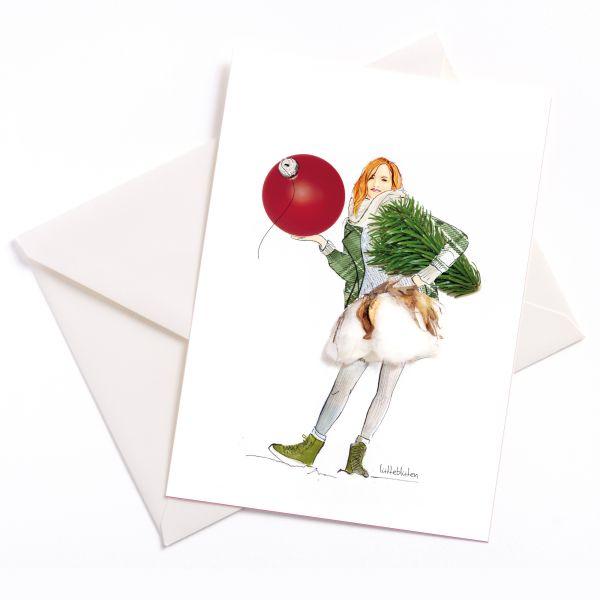 Lütteblüten Weihnachtskarte