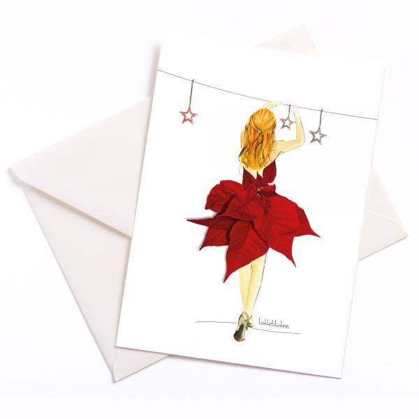 Lütteblüten Weihnachtsstern Adventsstern Art print